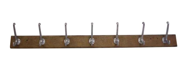 Coat Racks - Seven Hooks on a Wooden Plank