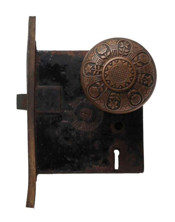Door Knob Sets - Antique Nashua Folk Style Door Knob Set
