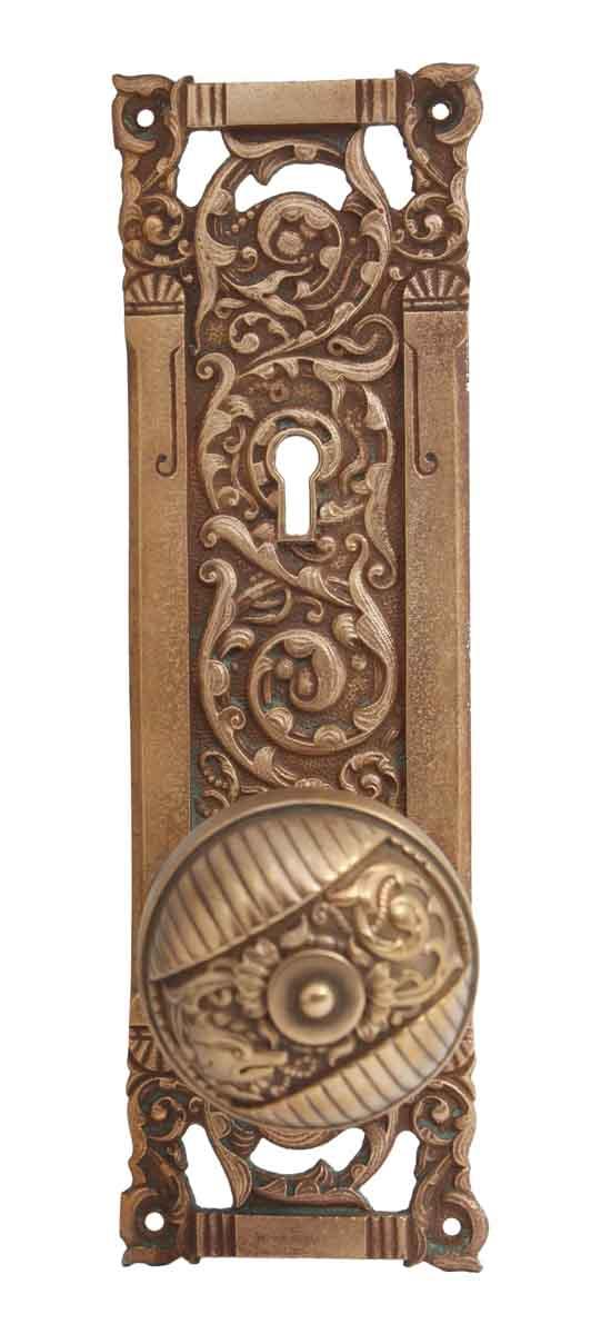 Door Knob Sets - Bronze Reading Columbian Door Knob Set with Keyhole Back Plate