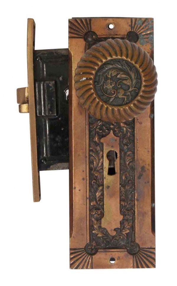 Door Knob Sets - Complete Corbin Fanciful Beast Bronze Entry Door Knob Set