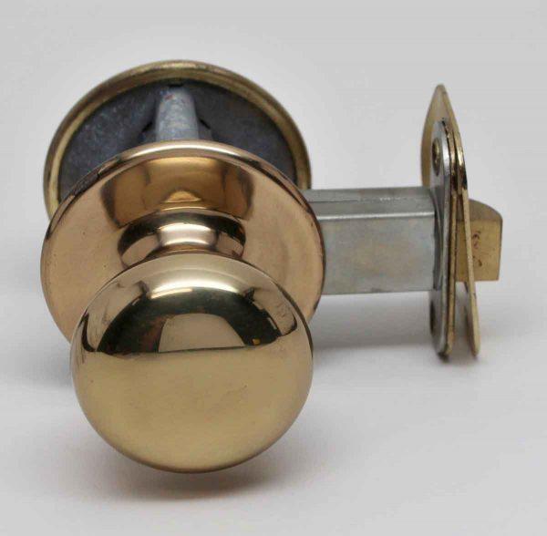 Door Knob Sets - Polished Brass Closet Door Knob & Lock Set