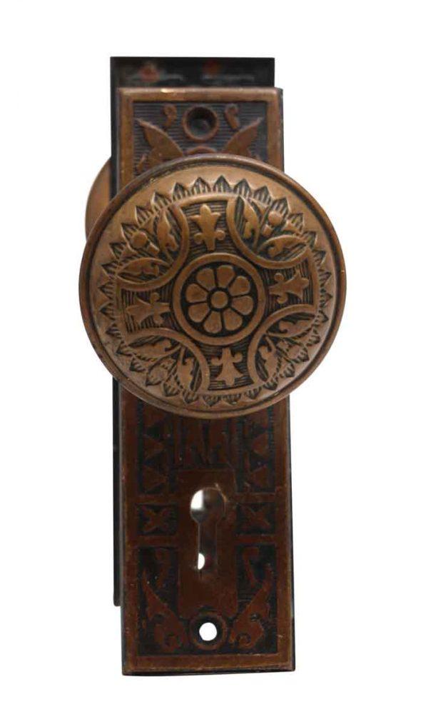 Door Knob Sets - Sargent Vernacular Brass Door Knob Set with Steel Back Plates