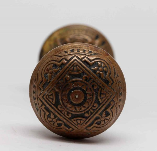 Door Knobs - Antique 4 Fold Bronze Corbin Vernacular Door Knobs