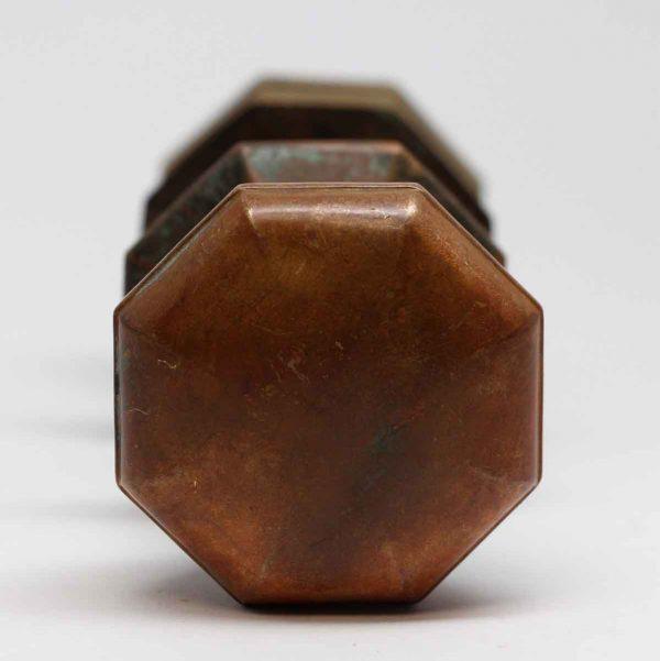 Door Knobs - Antique Plain Brass Octagon Door Knob Set