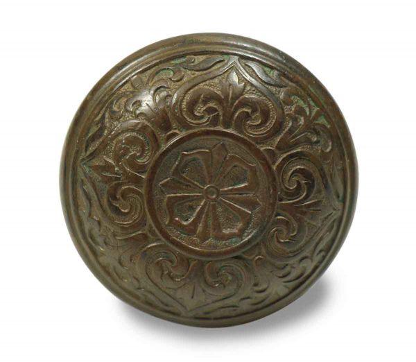 Door Knobs - Antique Russell & Erwin Bronze Classic Door Knob Set