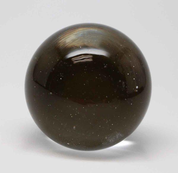 Door Knobs - Ball Shaped Clear Glass Door Knob