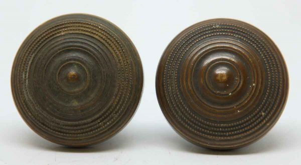 Door Knobs - Bronze Concentric Round Interior Door Knob Set