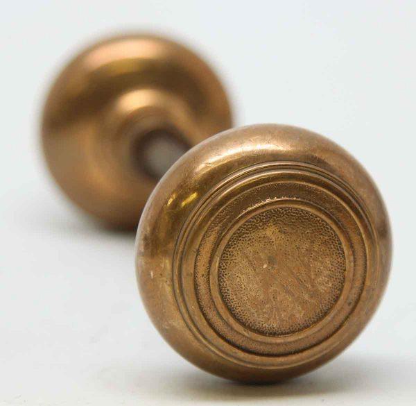 Door Knobs - Concentric Circle Cast Bronze Door Knob Set
