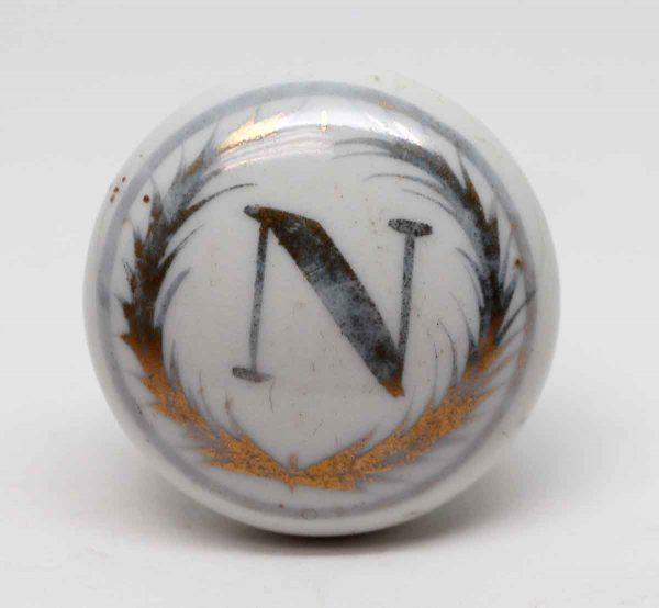 Door Knobs - Porcelain Emblematic N Door Knob
