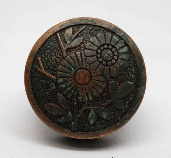 Door Knobs - Vernacular Floral Russell & Erwin Bronze Door Knob