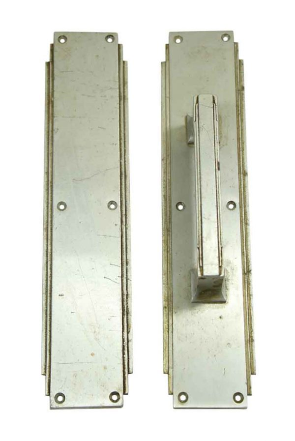 Door Pulls - Nickel Deco Door Pull Set