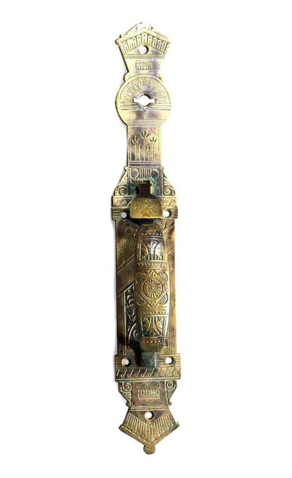 Door Pulls - Ornate Aesthetic Nashua Bronze Door Pull