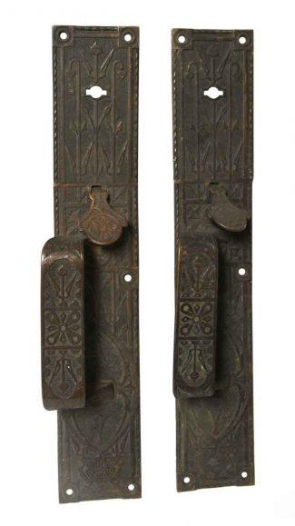 Pair Of Antique Bronze Aesthetic Door Pulls