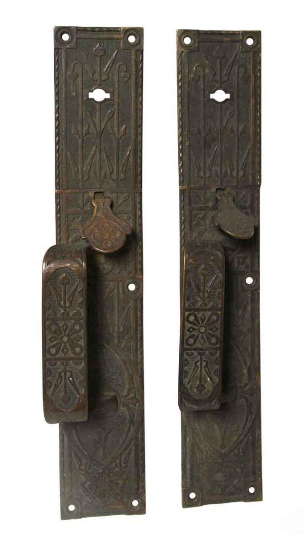 Door Pulls - Pair of Antique Bronze Aesthetic Door Pulls