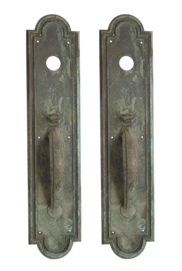 Door Pulls - Pair of Large Deco Yale & Towne Bronze Door Pulls