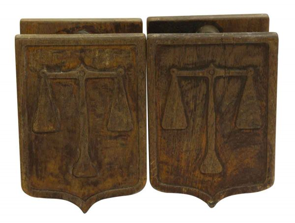 Door Pulls - Pair of Wooden Imported Double Door Pulls