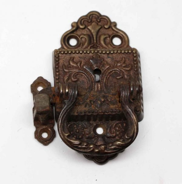 Ice Box Hardware - Antique Victorian Bronze Ice Box Latch