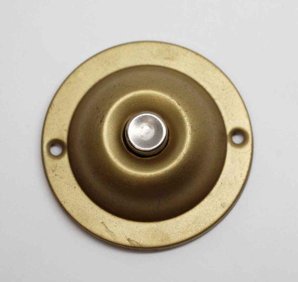 Knockers & Door Bells - Vintage Brass Silver Button Doorbell