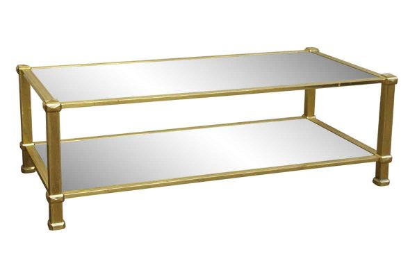 Living Room - 1970s Brass Rectangle Coffee Table