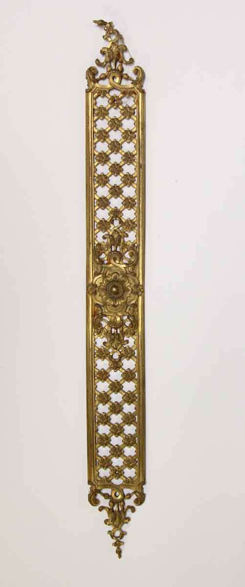 Push Plates - Large Floral Brass Door Push Plate