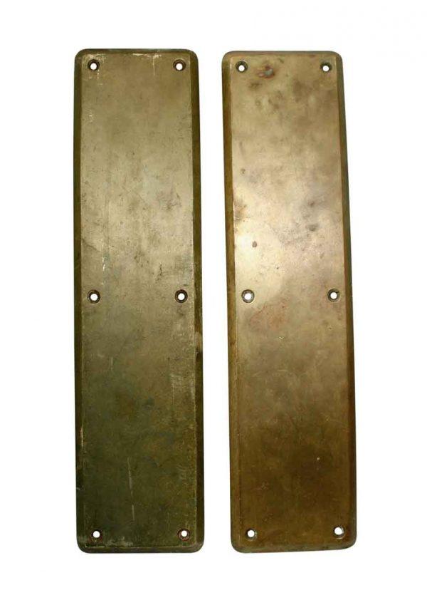 Push Plates - Pair of Corbin Brass Door Push Plates