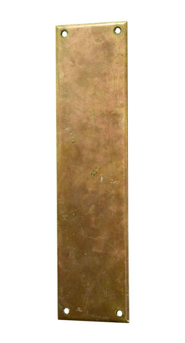 Push Plates - Plain Brass Door Push Plate