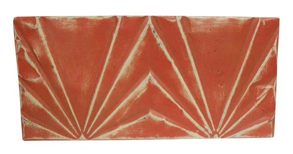 Tin Panels - Art Deco Red Double Tin Panel