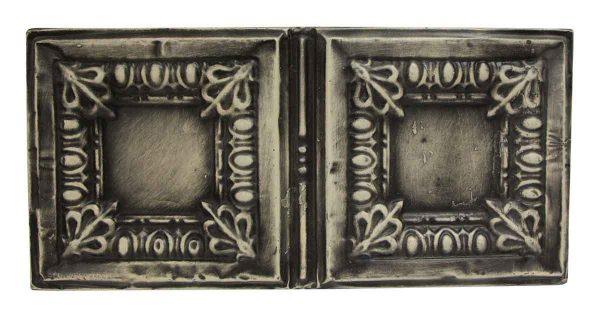 Tin Panels - Black Antique Egg & Dart Double Tin Panel