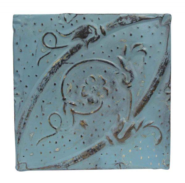 Tin Panels - Blue Diagonal Antique Tin Panel