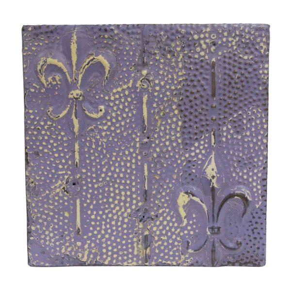 Tin Panels - Fleur de Lis Purple Antique Tin Panel