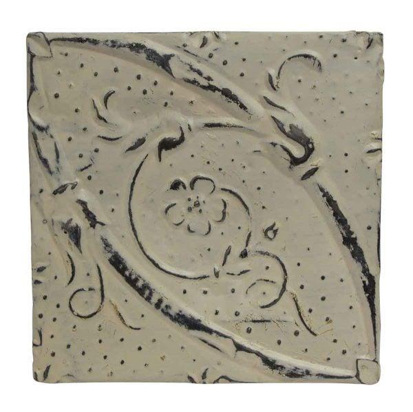 Tin Panels - White Diagonal Antique Tin Panel