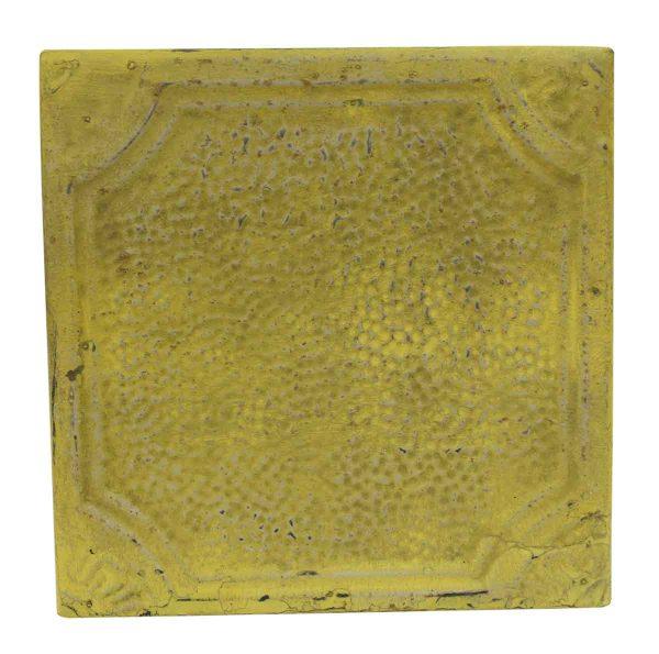 Tin Panels - Yellow Textured Antique Tin Panel