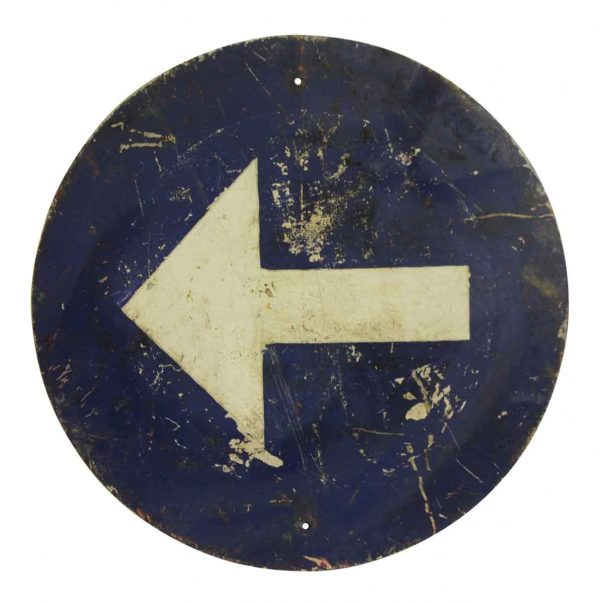 Vintage Signs - Imported Arrow Direction Sign