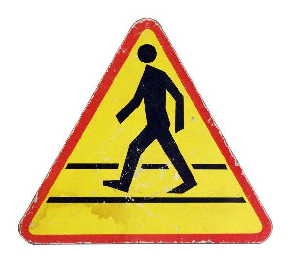Vintage Signs - Imported Vintage Pedestrian Sign