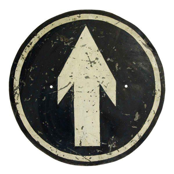 Vintage Signs - Metal Arrow Direction Sign