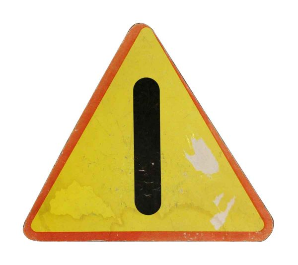 Vintage Signs - Small Vintage Imported Caution Sign