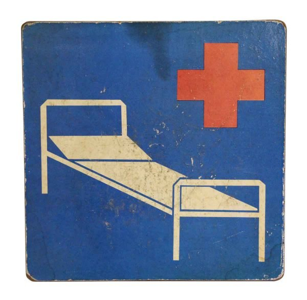 Vintage Signs - Vintage Imported Hospital Sign