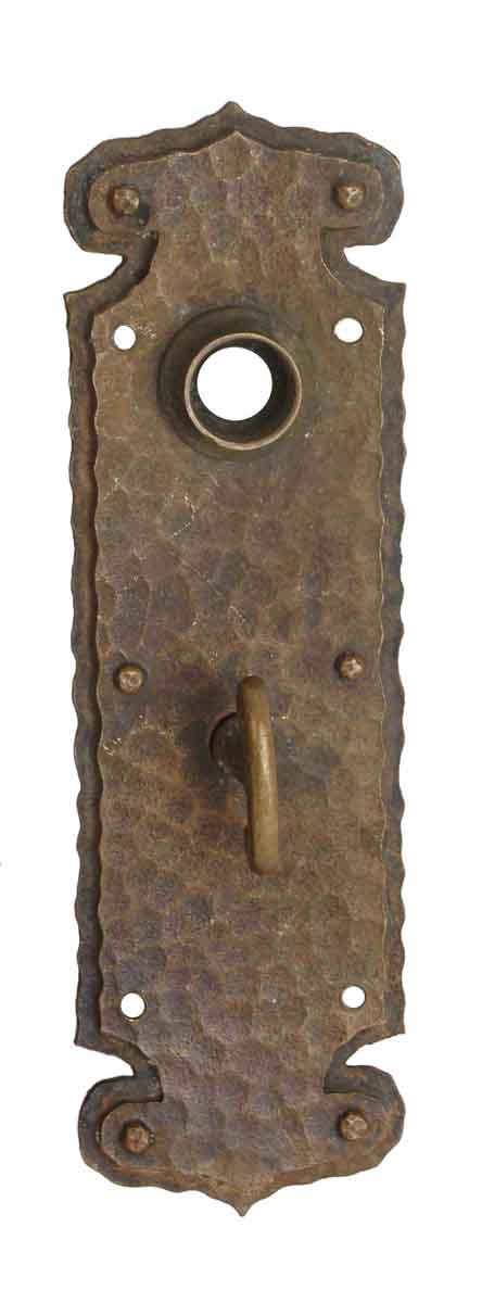 Back Plates - Hammered Chantrell Bronze Door Back Plate