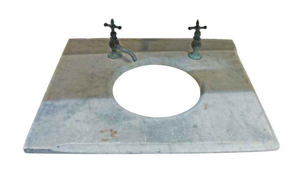 Bathroom - 19th Century Marble Sink Top with Original Hardware