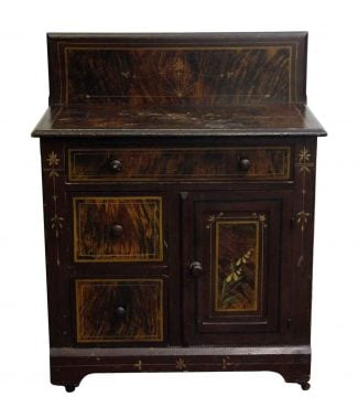Late 1800s Wooden Wash Stand
