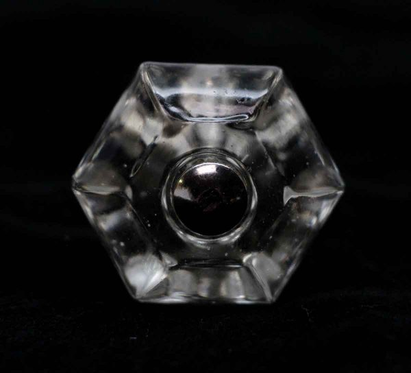 Cabinet & Furniture Knobs - 1.25 in. Vintage Hexagon Glass Cabinet Knob