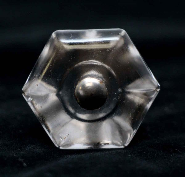 Cabinet & Furniture Knobs - 1.25 in. Vintage Hexagon Glass Drawer Knob