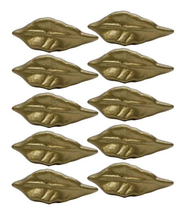 Cabinet & Furniture Knobs - Set of 10 New Leaf Shaped Cabinet Knobs