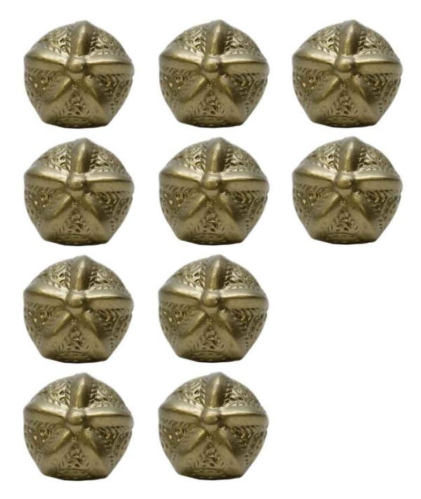 Cabinet & Furniture Knobs - Set of 10 Textured Round Starfish Cabinet Knobs