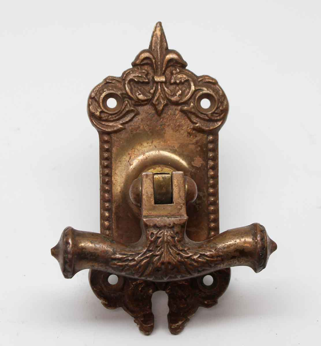 Cabinet & Furniture Pulls - Antique Bronze Cabinet Pull with Back Plate - Antique Bronze Cabinet Pull With Back Plate Olde Good Things
