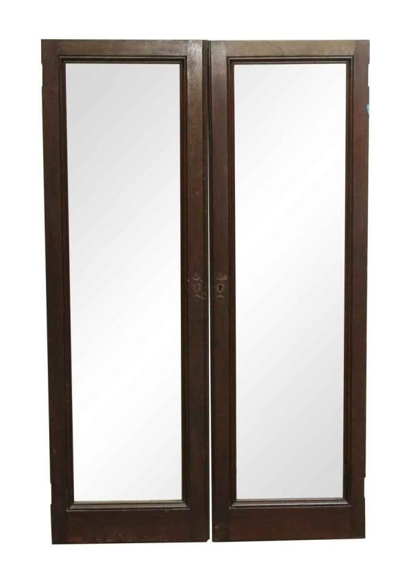 Cabinets & Bookcases - Pair of Walnut Framed Cabinet Doors