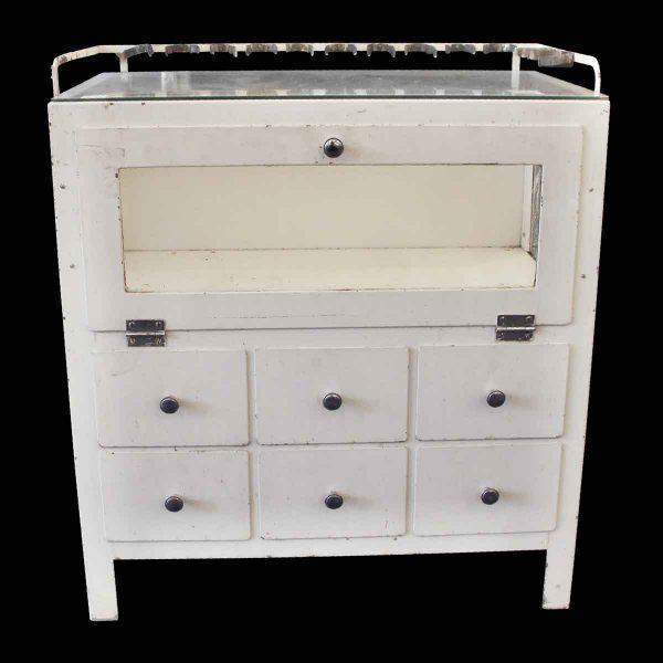 Cabinets - Vintage White Steel Medical Cabinet