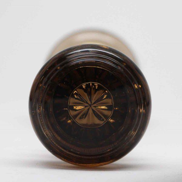 Door Knobs - Antique Dark Amber Glass Door Knob Set with Center Bullet