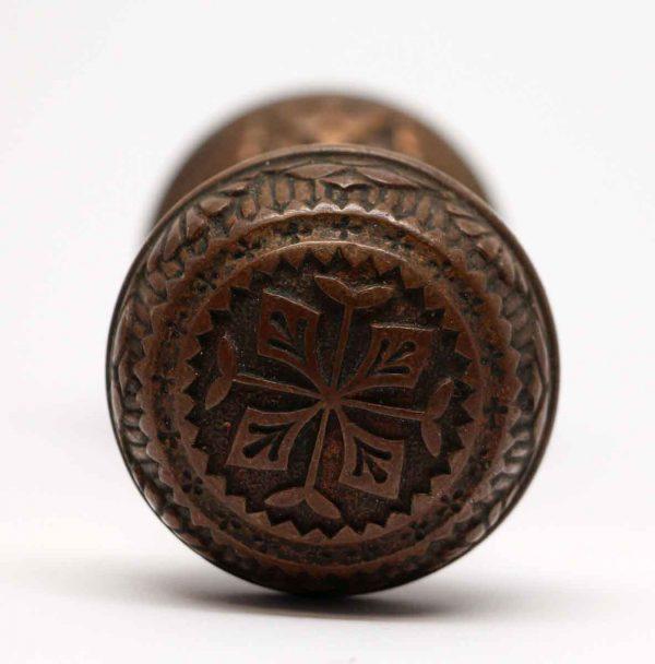 Door Knobs - Antique Four Fold Bronze Vernacular Door Knob Set