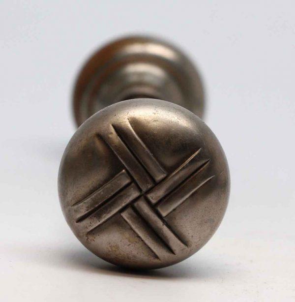 Door Knobs - Sargent Nickel Over Bronze Art Deco Durex Door Knobs